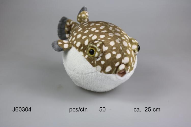 60304 Игрушка мягконабивная Рыба Фугу 30см купить оптом в интернет-магазине Дивале